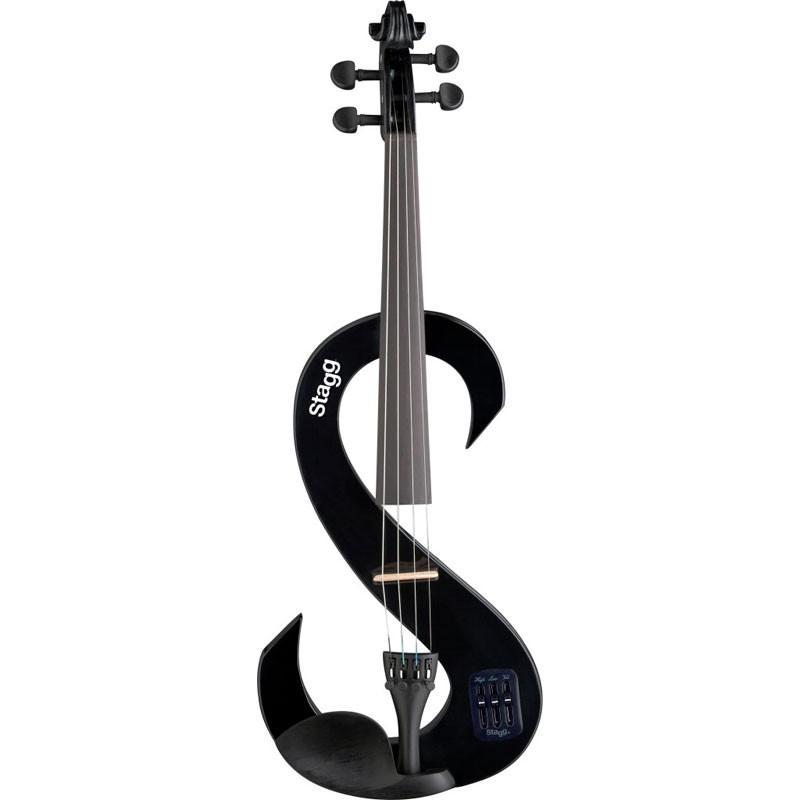 Violino 4/4 Stagg Eletrico Preto EVN BK  - Luggi Instrumentos Musicais