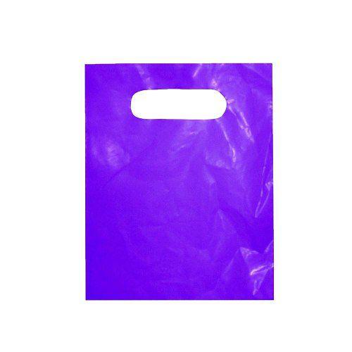 Sacola plástica Boca de Palhaço Lisa - Roxo - 30x40cm - Pacote 500 unid - Espessura 07
