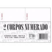 Comanda de 2 Vias Numerada - 5,7x14cm - c/100 Folhas (20 Unidades) (Pacote Total 2.000 folhas)