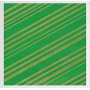 Papel de Presente - Bobina Couchê - 40 | 60cm x 90m Listrado Verde