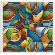 Papel de Presente - Bobina Couchê - 40 | 60cm x 90m Vitral Colorido
