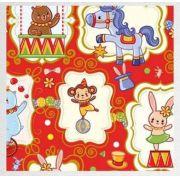 Papel de Presente - Bobina Couchê - 40 | 60cm x 90m Welcome Circus Vermelho