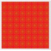Papel de Presente - Bobina Couchê - 40cm x 90m Geométrico Vermelho