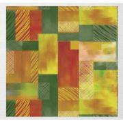 Papel de Presente - Bobina Couchê - 40cm x 90m Retângulos Abstratos