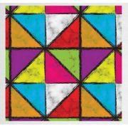 Papel de Presente - Bobina Couchê - 40cm x 90m Triângulos