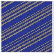 Papel de Presente - Bobina Couchê - 60cm x 90m Listrado Azul