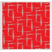 Papel de Presente - Bobina Couchê - 60cm x 90m RED