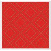 Papel de Presente - Bobina Couchê  -  40cm | 60cm Losango Bolinhas Vermelhas