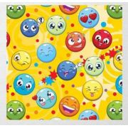 Papel de Presente - Couchê Bobina - 60cm x 90m Emotion Faces