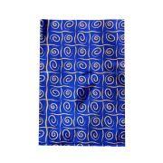 Saco de Presente Metalizado - 20x29cm - Espirais 1 - Azul (PCT 50 unid)