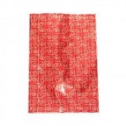 Saco de Presente Metalizado - 30x44cm - Caracol Vermelho 501 (PCT 50 unid)