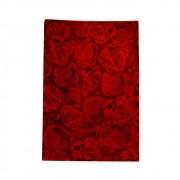 Saco de Presente Metalizado - 30x44cm - Rosas Vermelhas 337 (PCT 50 unid)