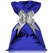 Saco de Presente Metalizado Azul 50 Unidades