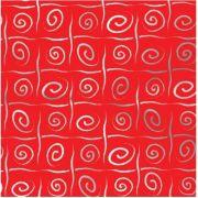 Saco de Presente Metalizado - Caracol Vermelho 25x37 (50 unidades)