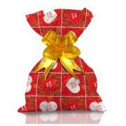 Saco de Presente Metalizado - Caracol Vermelho 30x45 (50 unidades)