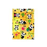 Saco de Presente Metalizado - Estampado - Baby Panda - 20 X 29cm, 25 X 35cm ou 30 X 45cm - PCT (50 Unid.)