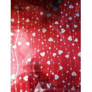 Saco de Presente Metalizado - Line Heart 25x37 | 30x45 (50 unidades)