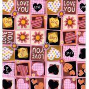 Saco de Presente Metalizado - Love 20x30 (50 unidades)