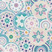 Saco de Presente Metalizado - Mosaico 25x37 (50 unidades)