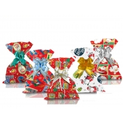 Saco de Presente Metalizado Natal Papai Noel 20x29