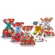 Saco de Presente Metalizado Natal Papai Noel 30x44cm