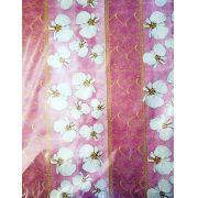 Saco de Presente Metalizado - Orquídeas 25x37 | 30x45 (50 unidades)
