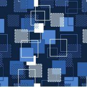 Saco de Presente Metalizado - Quadrado Azul 25x37 (50 unidades)