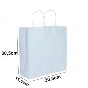Sacola de papel Kraft Branco - 30,5x30,5cm - 10 unidades 90g