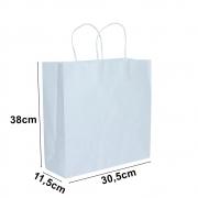 Sacola de papel Kraft Branco - 30,5x38cm - 10 unidades 90g