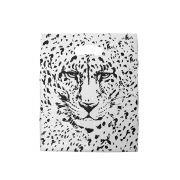 Sacola plástica Boca de Palhaço Estampada - Tigre Branco/Prt - 20x30cm - Pacote 100 unid (1 KG)