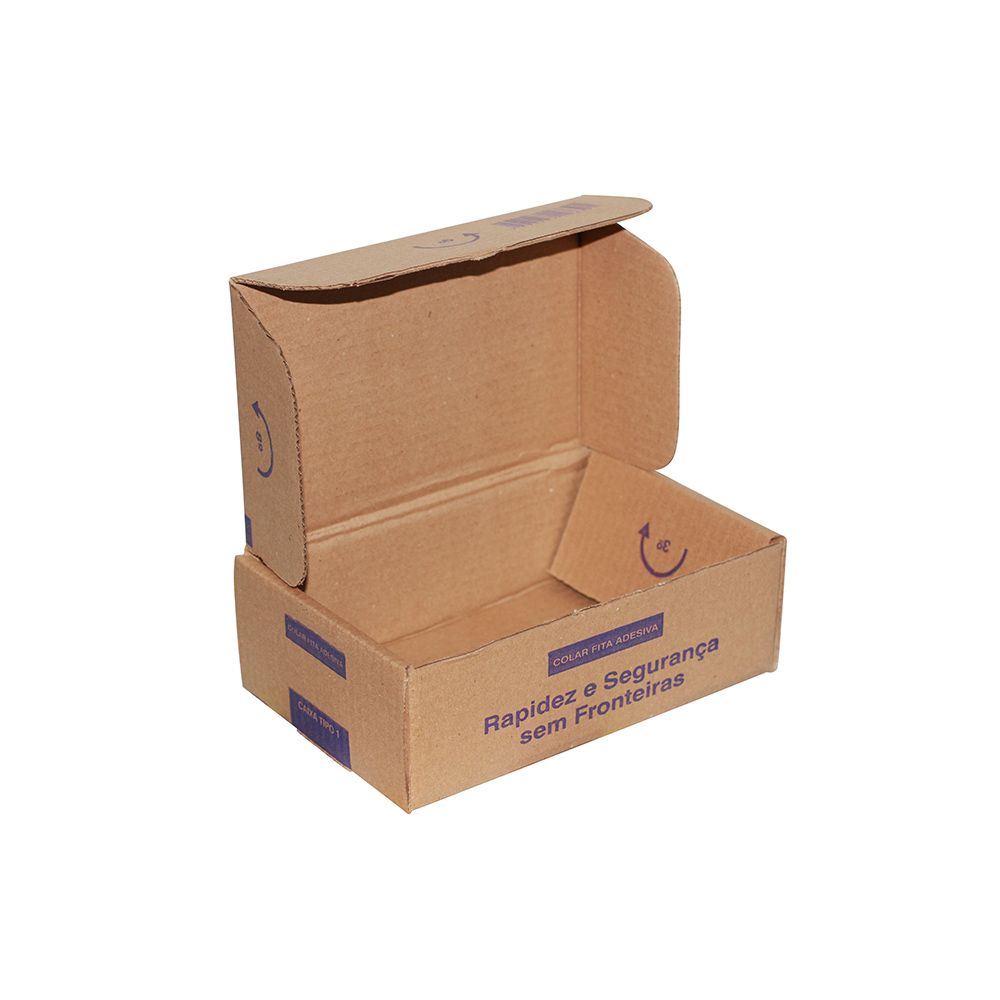 Caixa De Papelão para Correios ou E-commerce - Pardo - 28X18cm - 30 Unid.