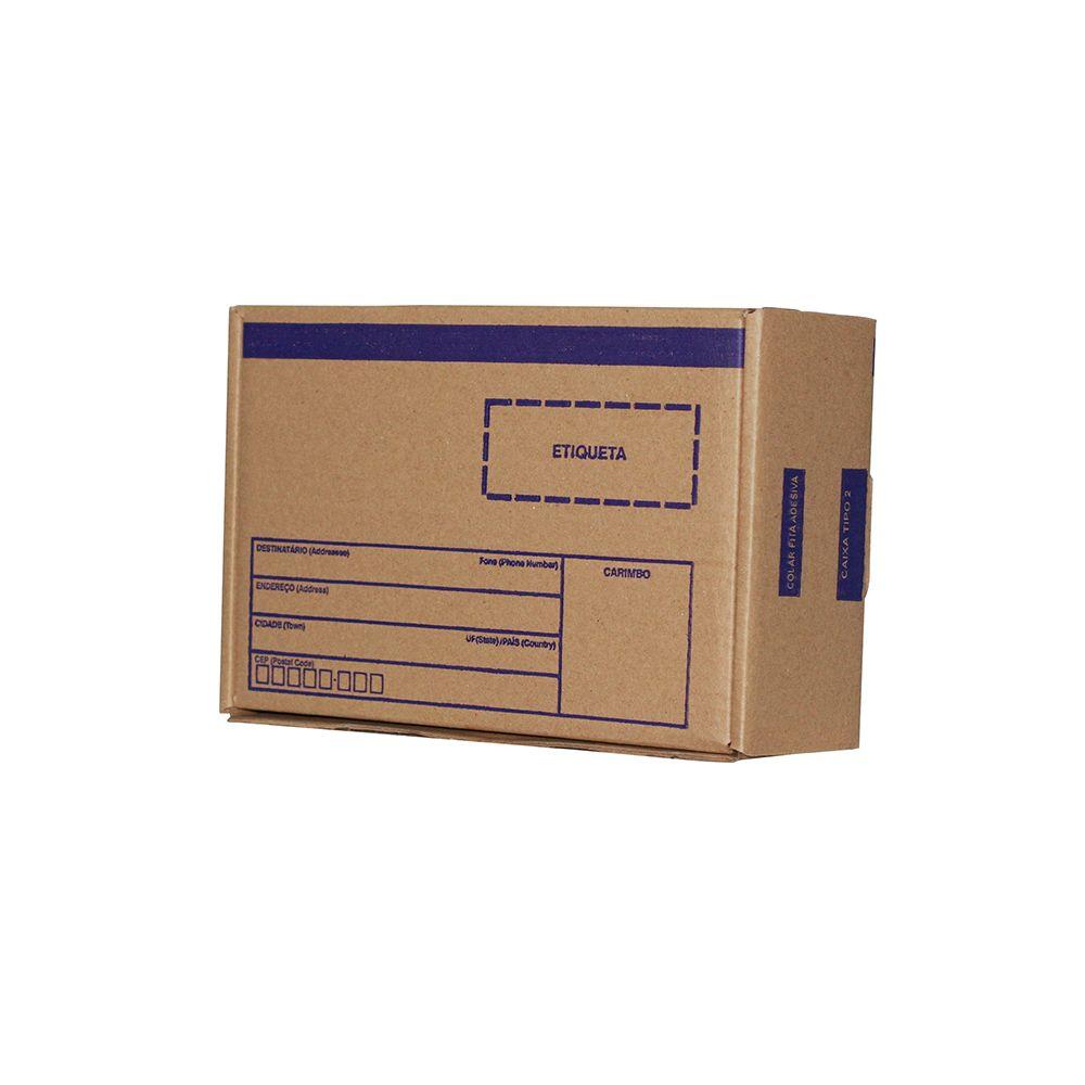 Caixa De Papelão para Correios ou E-commerce - Pardo - 33X21cm - 30 Unid.