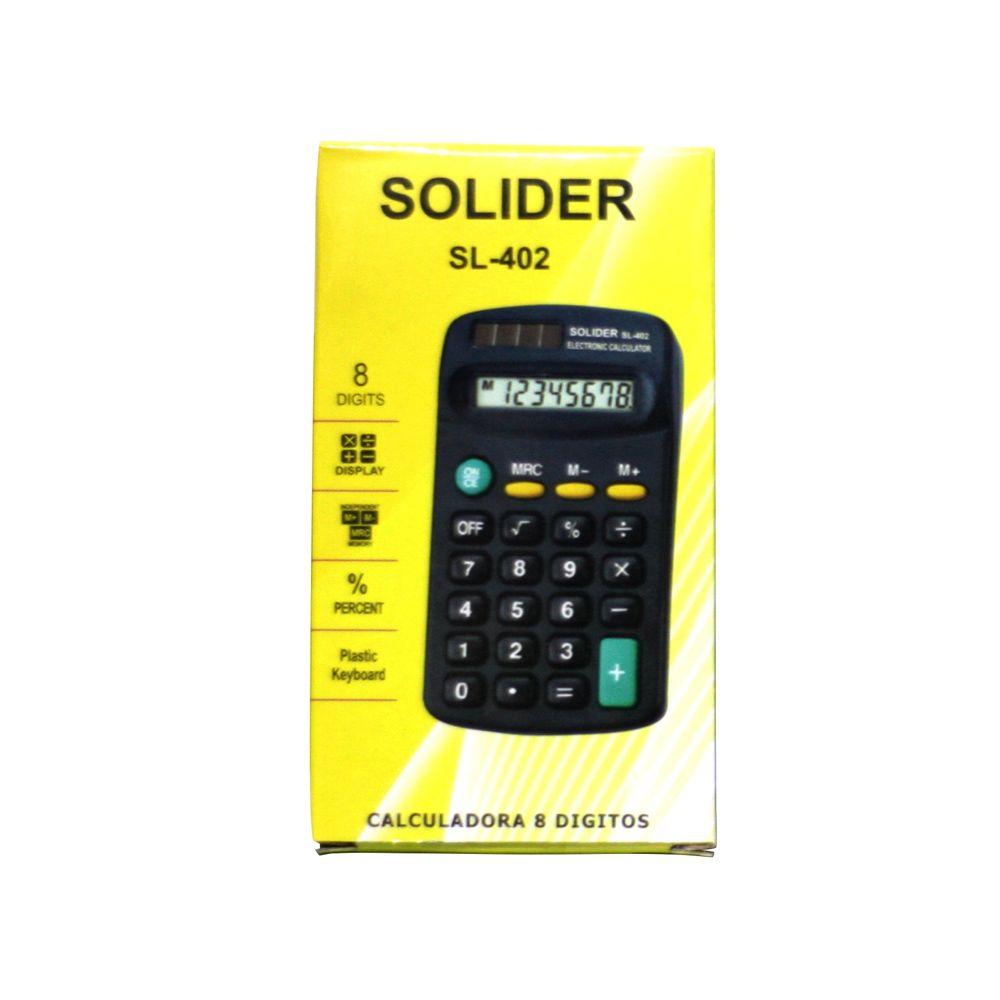 Calculadora de Bolso - Básica - Kenko KK-402 - Preta - 8 Dígitos