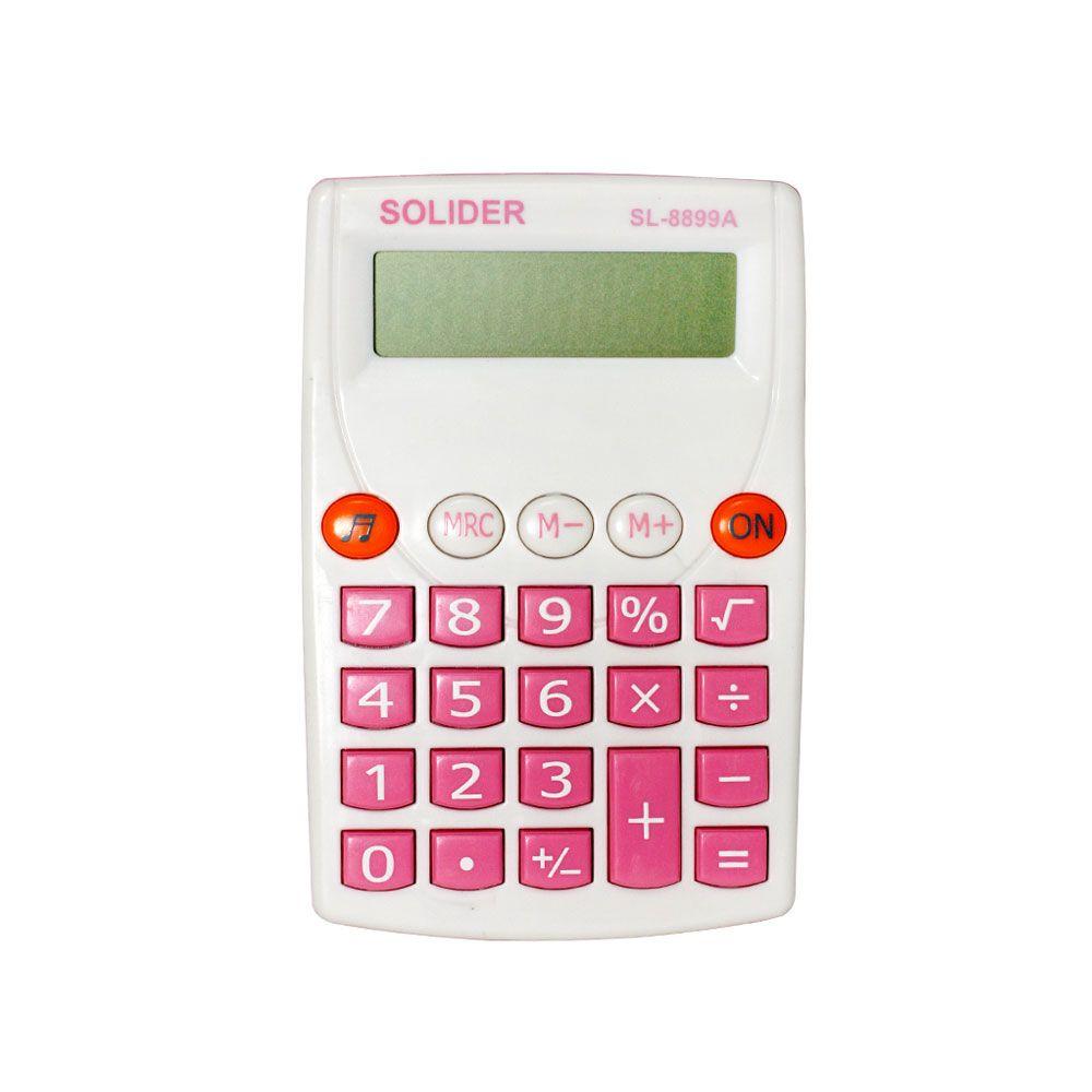 Calculadora - Portátil - KK-8899 - Branca - 8 Dígitos