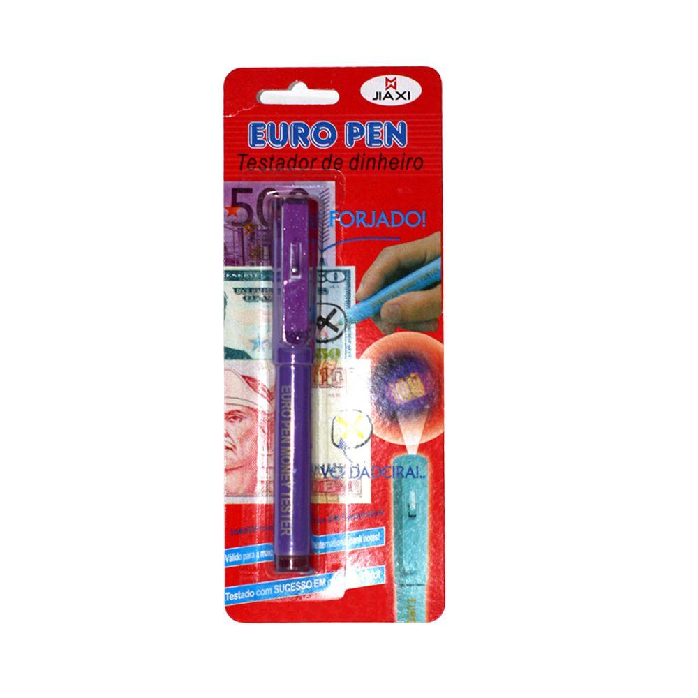 Caneta UV para Identificar Nota Falsa - Euro Pen com Luz UV (Várias Cores) - Unid.