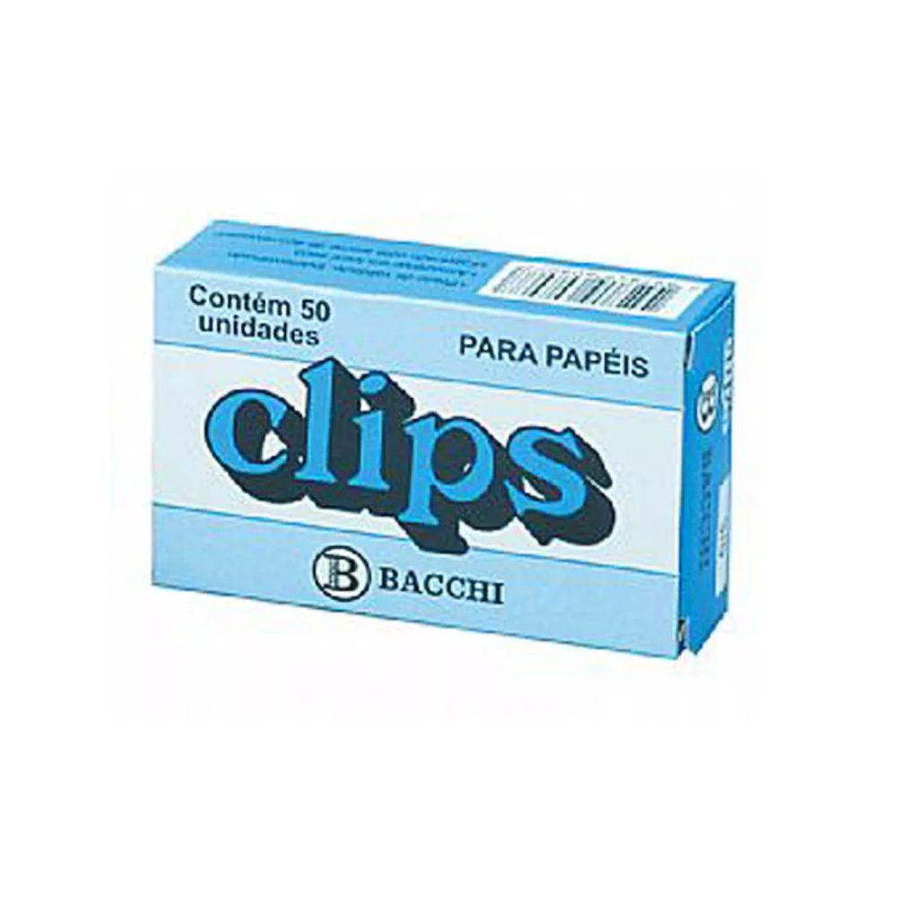 Clips Niquelados - Nº3/0 - Caixa com 50 Unid.