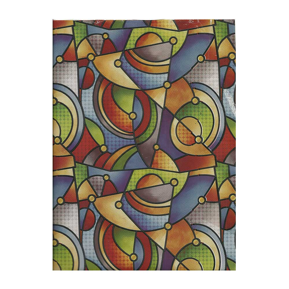 Papel de Presente - Couchê - Bobina 40cm X 90 Metros - Abstrato - Colorido
