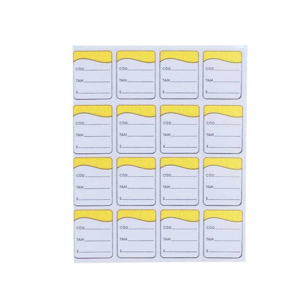 Etiqueta Tag - Amarelo (Pacote 1.000 unid)