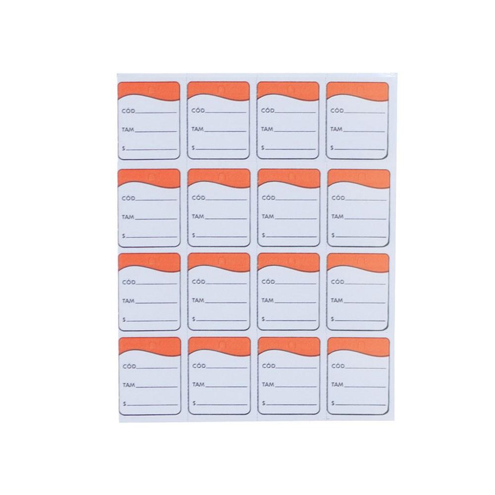 Etiqueta Tag - Laranja (Pacote 1.000 unid)