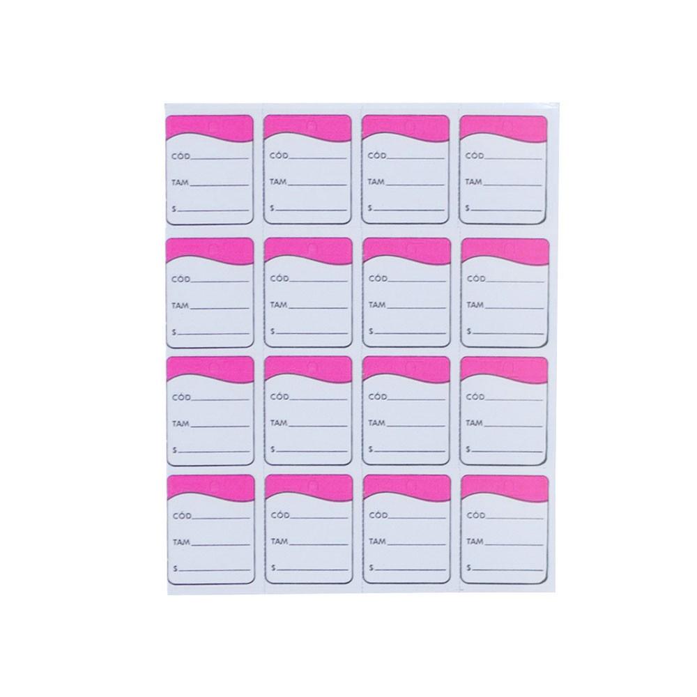 Etiqueta Tag - Rosa (Pacote 1.000 unid)