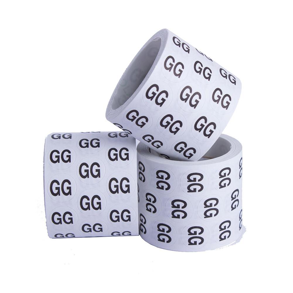 Etiquetas Para Roupas -  Tamanho GG (Pacote 5.000 unid)