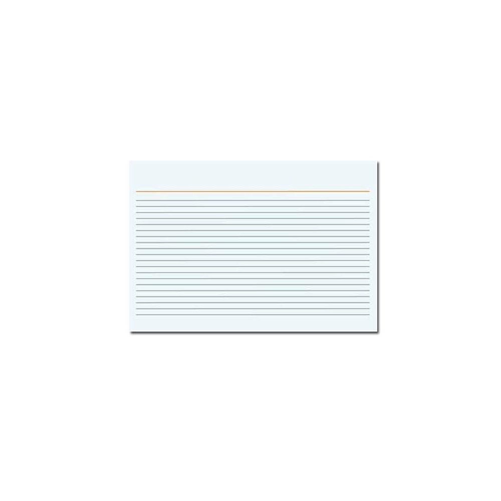 Ficha Pautada - 4x6cm - Branco - 100 Folhas (Pacote 100 unid)