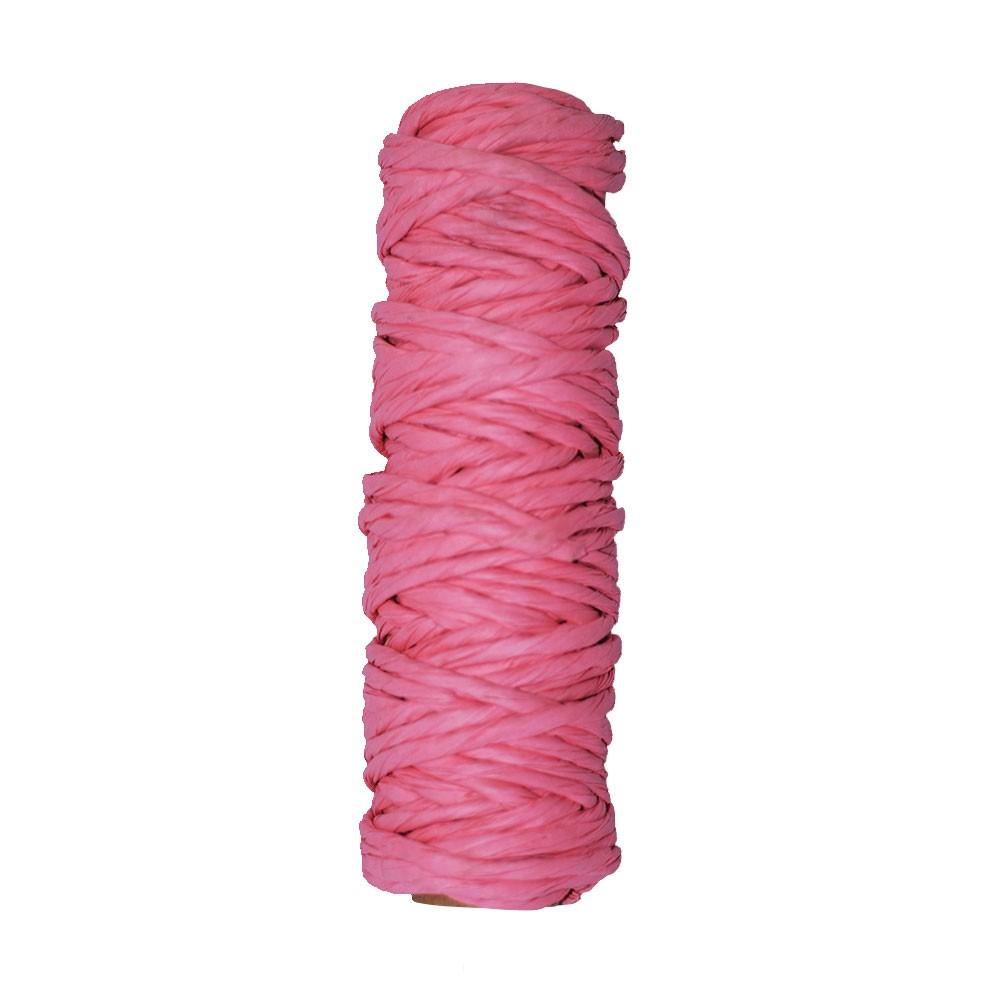 Fio Kraft Para Laço e Decoração - Grosso - Rosa Claro - Rolo 25 metros