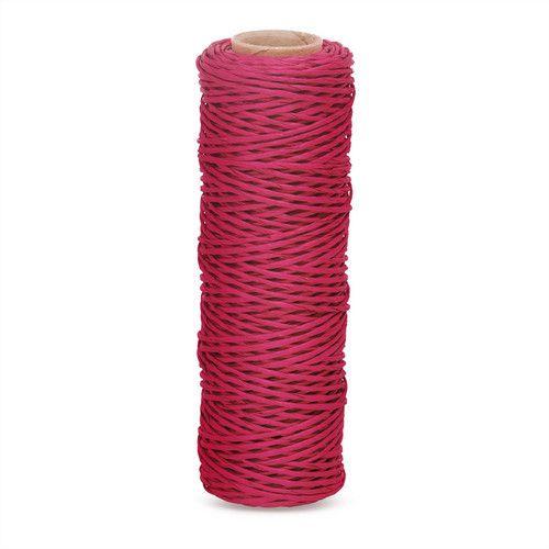 Fio Kraft Para Laço e Decoração - Grosso - Rosa Escuro - Rolo 25 metros