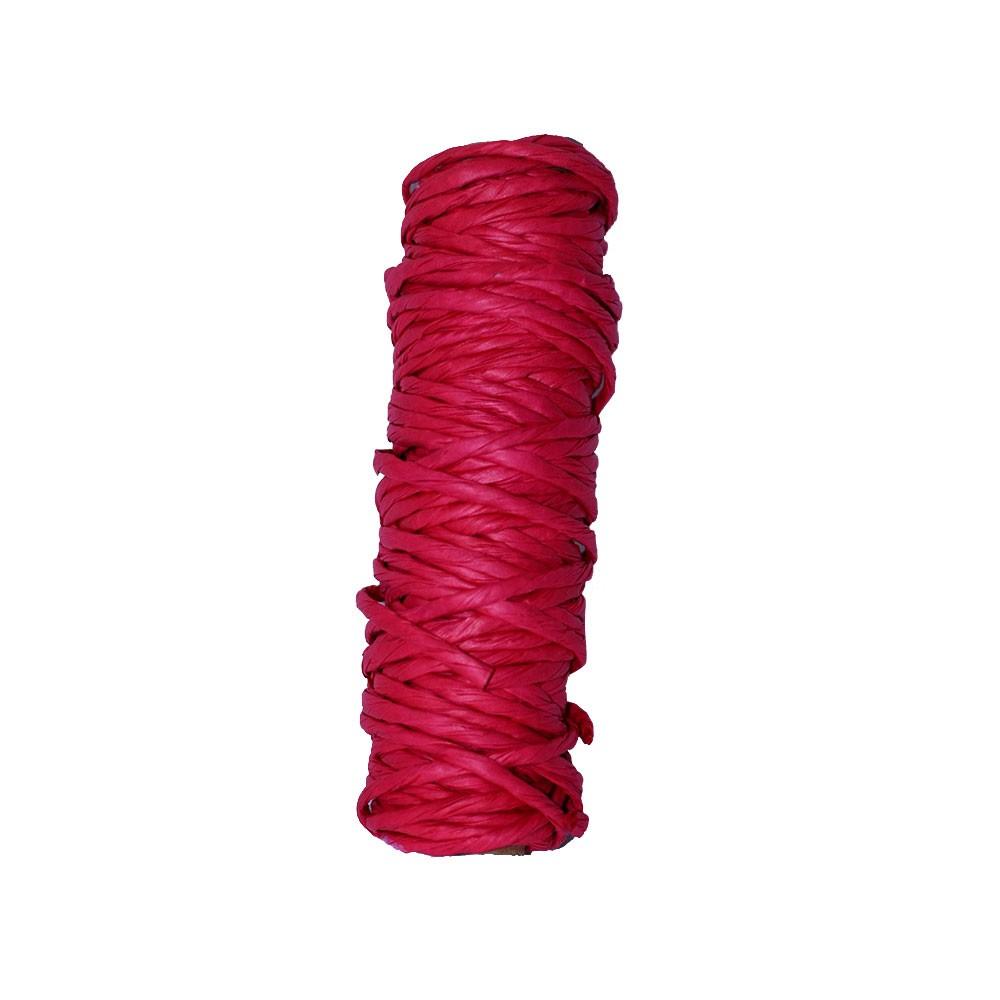 Fio Kraft Para Laço e Decoração - Grosso - Vermelho - Rolo 25 metros