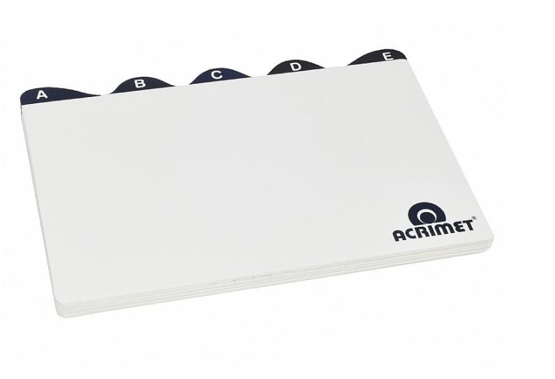 Índice Alfabético 5x8 - Branco (Pacote 26 unid)