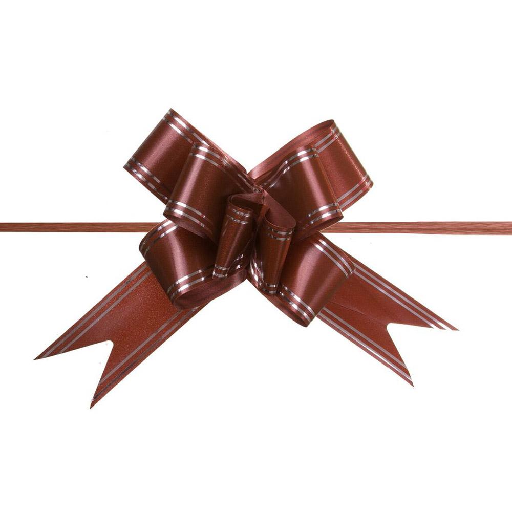 Laço Mágico Pronto (Grande) - Marrom - 3,2x49cm - Pacote - 10 unid