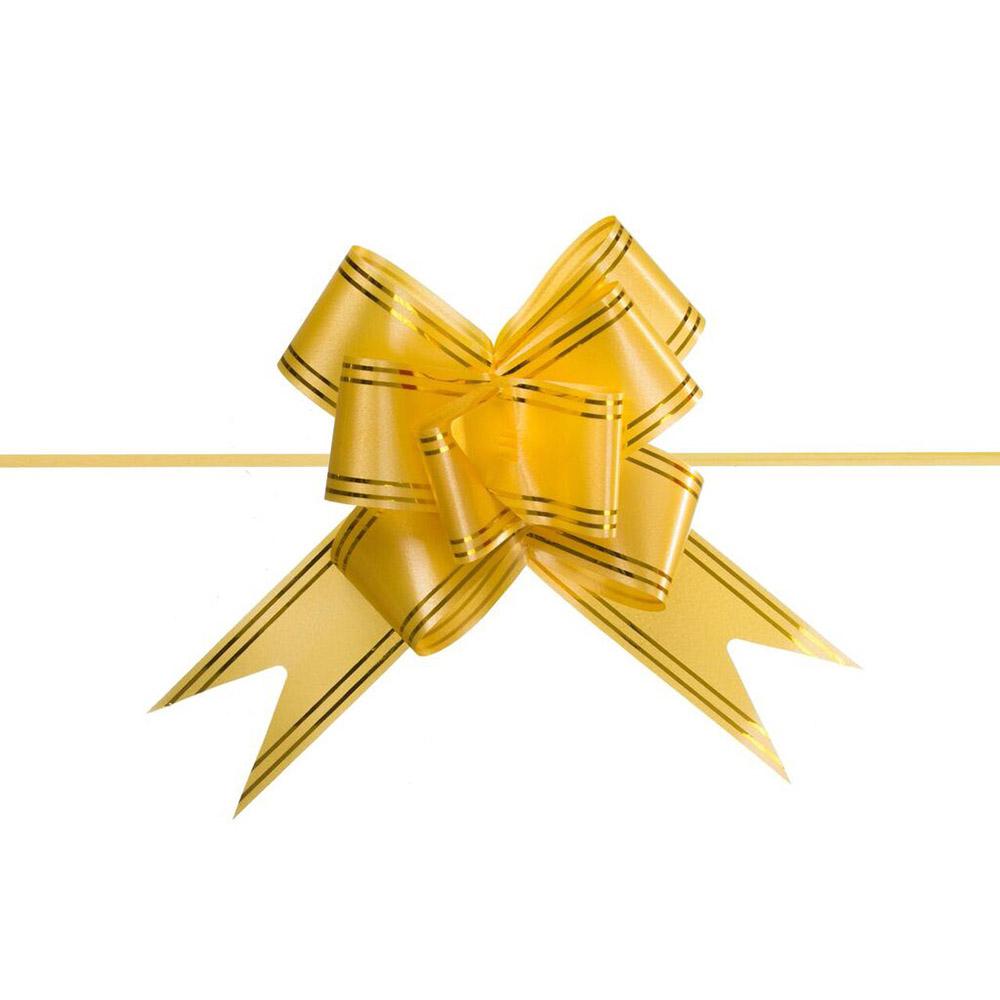 Laço Mágico Pronto (Médio) - Amarelo - 1,8x36cm - Pacote - 10 unid