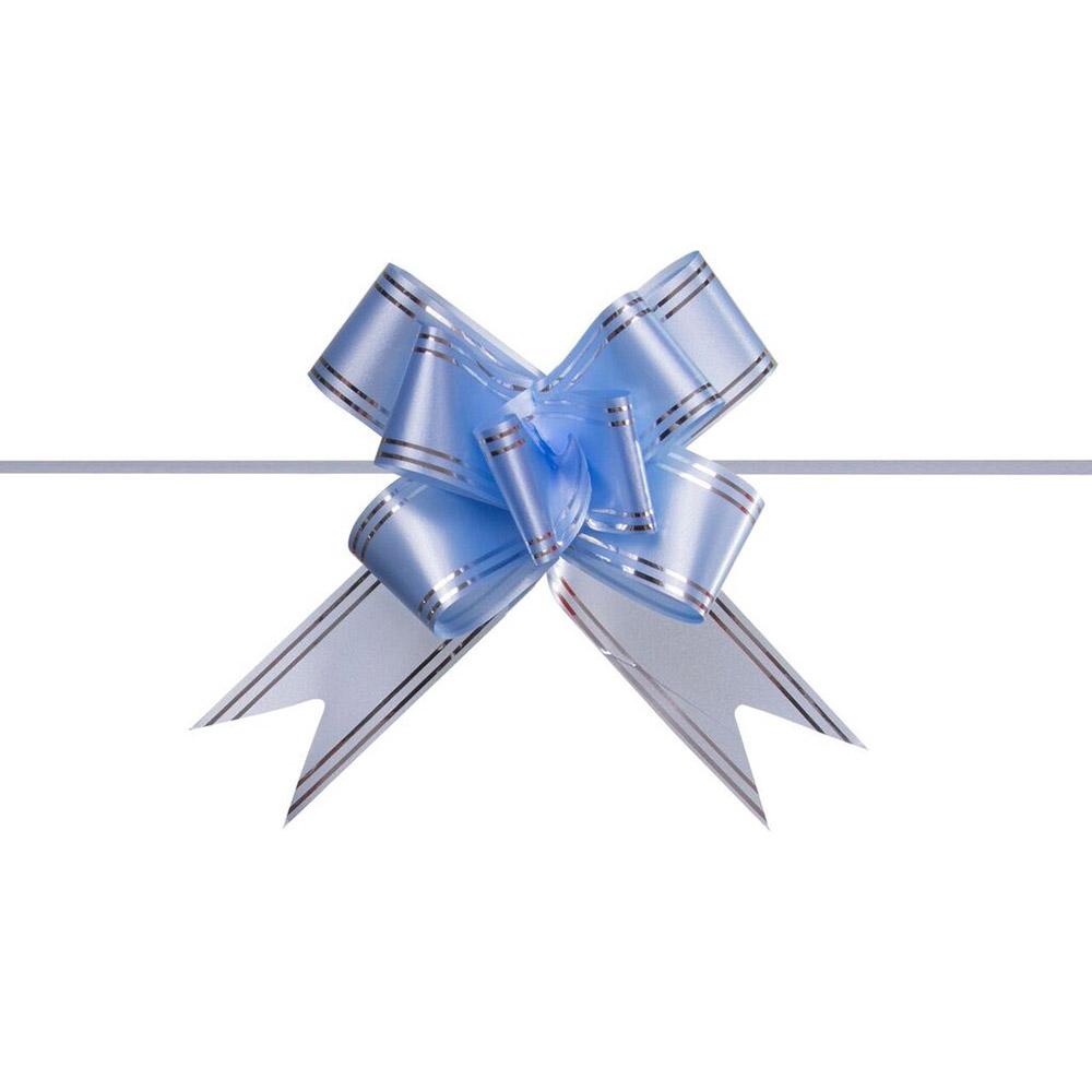 Laço Mágico Pronto (Médio) - Azul Claro - 1,8x36cm - Pacote - 10 unid