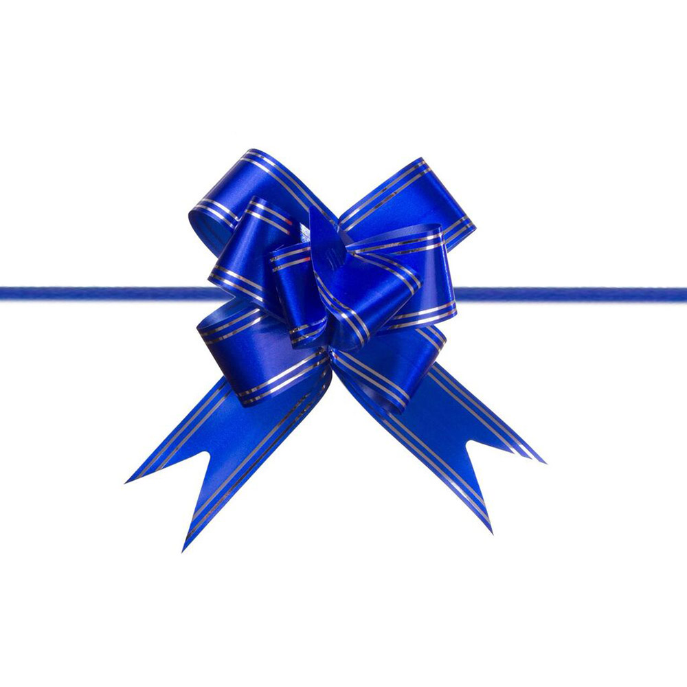 Laço Mágico Pronto (Médio) - Azul Escuro - 1,8x36cm - Pacote - 10 unid